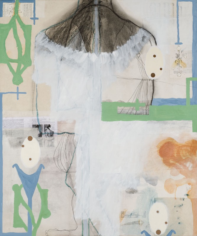 Retrospect, mixed media on paper on canvas, 120 X 100 cm, 2009