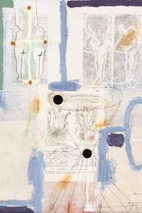 'Natural History' series, mixed media on paper on canvas, 40 X 40 cm, 2009