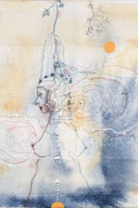 'Anatomy Lesson' series, mixed media on canvas on paper, 30 X 30 cm, 2008