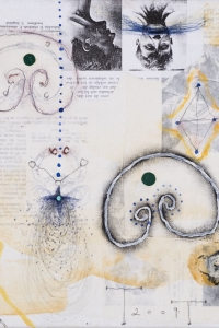 untitled, mixed media on paper on canvas, 30 X 30 cm, 2009